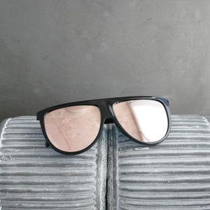 Flat Top Pink Mirror Lens Sunglasses